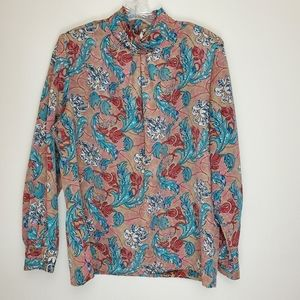 Vintage Classic Collection floral high neck top 1C